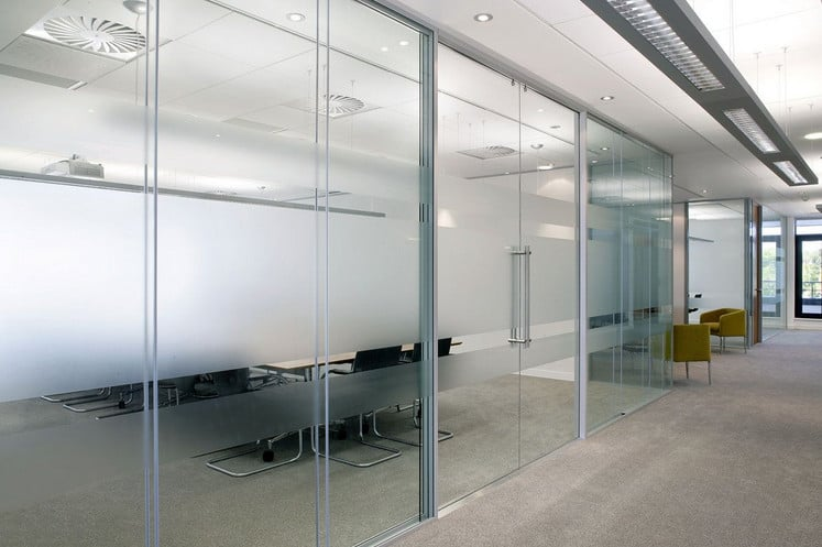 double glazed acoustic glass partitions