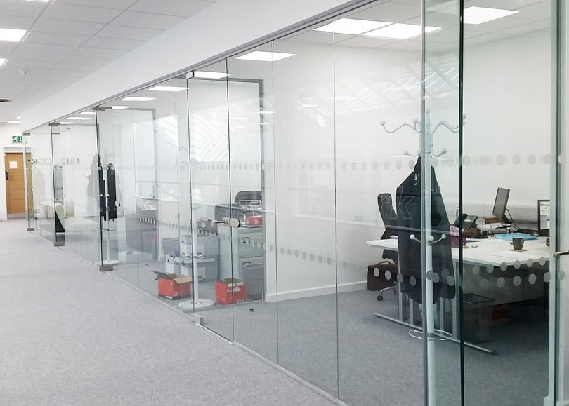 frameless glass partitioning walls in sydney